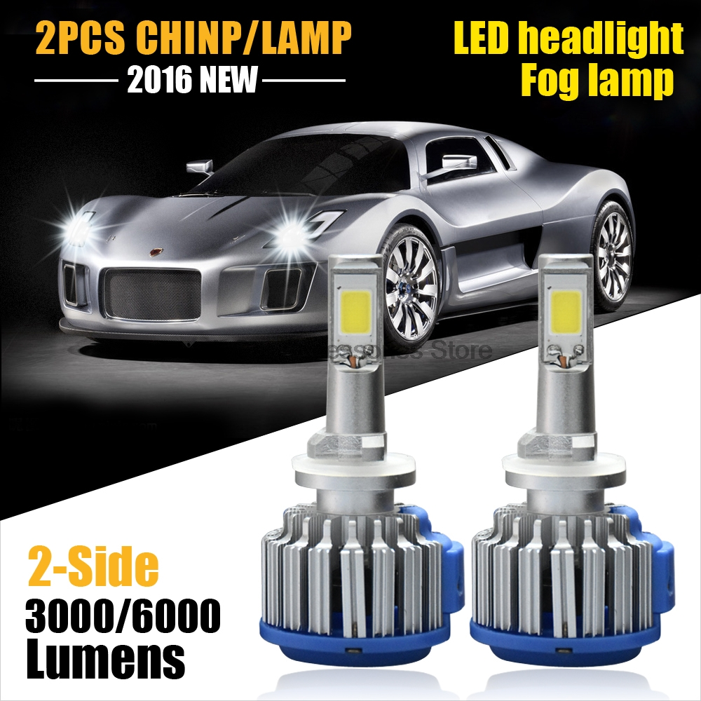 Pair Guaranteed Car <font><b>LED</b></font> Headlights 880 881 6000LM 12V <font><b>Super</b></font> Power Replacement <font><b>LED</b></font> Bulb Kit Fog Light 880 881 <font><b>H27</b></font>