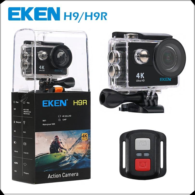 """Оригинальный EKEN H9/h9r действие Камера Ultra HD 4 К/25fps Wi-Fi 2.0 """"170d подводный Камера водонепроницаемый cam шлем Камера Спорт Cam"""