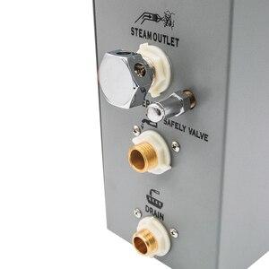 Image 2 - CE 4.5KW AC110/220V Bluetooth רטוב קיטור אמבטיה סאונה גנרטור עם מקלחת ספא אביזרי פליז בטיחות שסתום אוטומטי ניקוז Steamer