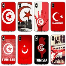 slim tpu Soft Accessories phone cover case For Huawei P7 P8 P9 P10 P20 pro Lite plus P Smart Mini 2017 Tunisia Flag Map fahion(China)
