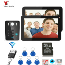 Yobang Security 9″ Color Record Screen Video Intercom Door Phone Kit + RFID Access Doorbell Camera with Wireless Remote Control