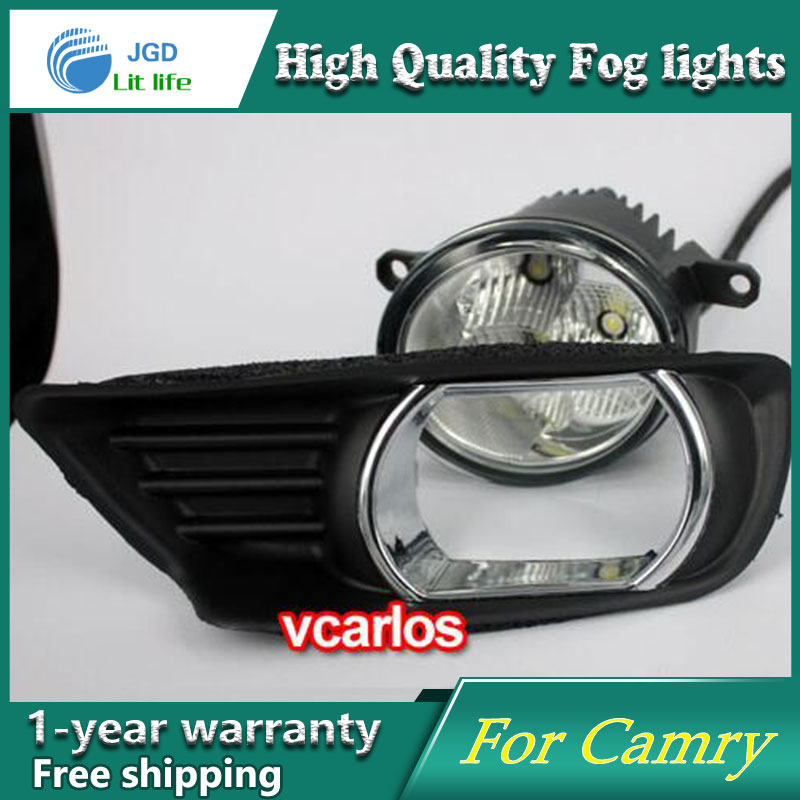 2PCS / Pair LED Fog Light For Toyota Camry 2007 High Power LED Fog Lamp Auto DRL Lighting Led Headlamp 2pcs pair led fog light for toyota corolla axio 2007 high power led fog lamp auto drl lighting led headlamp