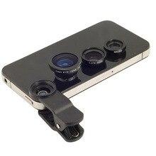 3 in 1 fischaugen-objektiv für handy-kamera breite + macro + fisheye linsen für sony smartwatch 3