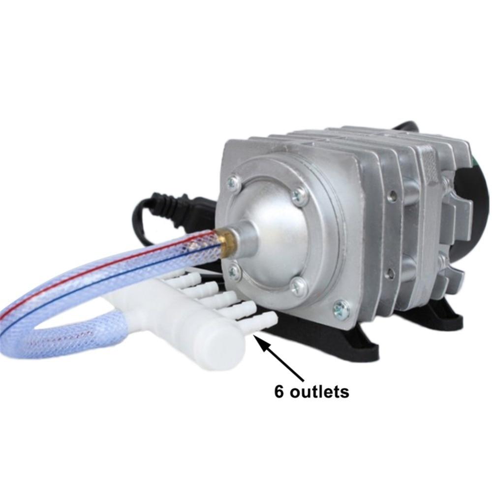 6 Outlets Elektromagnetische Kompressor Kommerziellen Luftpumpe Aquakultur produkt 220 V