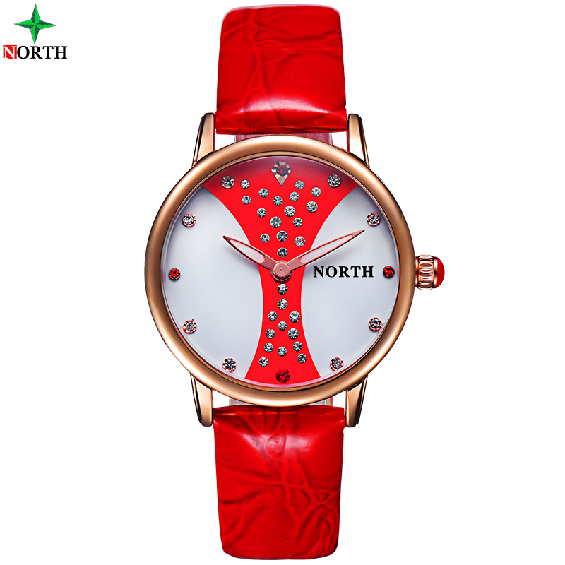 NORTH Luxury Brand Watches Women Fashion Quartz Watch 30M Waterproof Reloj Mujer Gift Gold Clock Ladies Dress Wristwatch Women kimio brand bracelet watches women reloj mujer luxury rose gold business casual ladies digital dial clock quartz wristwatch hot