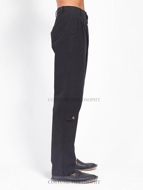 S-6XL!!Men's slacks self-made flared trousers designer style pleats. 3