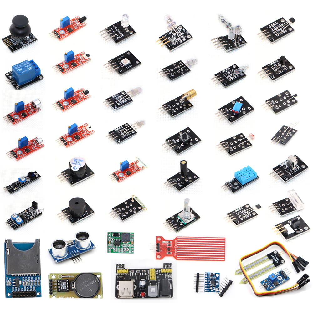 Free Shipping 45 in 1 Sensors Modules Starter Kit, better than 37in1 sensor kit