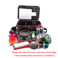Outdoor Camping Hiking Lunch Basket Picnic Bags Portable Picnic Bag Food Storage Basket Handbags Lunch Box for Women Adults
