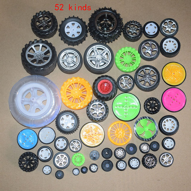 52 kinds/set tamiya Plastic rubber Toy Wheels Toys Accessories Technology Model Parts quadcopter/rc/servo/fpv/gimbal/syma x5c