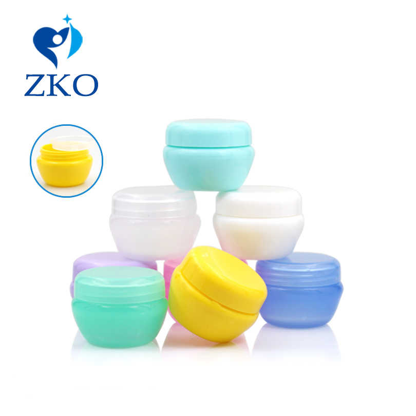 Super low price 5/10/20/30/50g Mushroom Cosmetics cream jar free shipping empty cosmetic containers