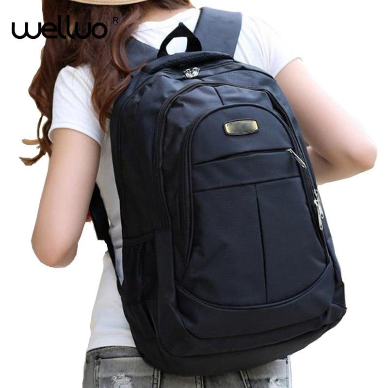 Fashion Unisex Black Laptop Women Backpack Quality School Bags Teenage Girls Boys Large Capacity Nylon Bagpack