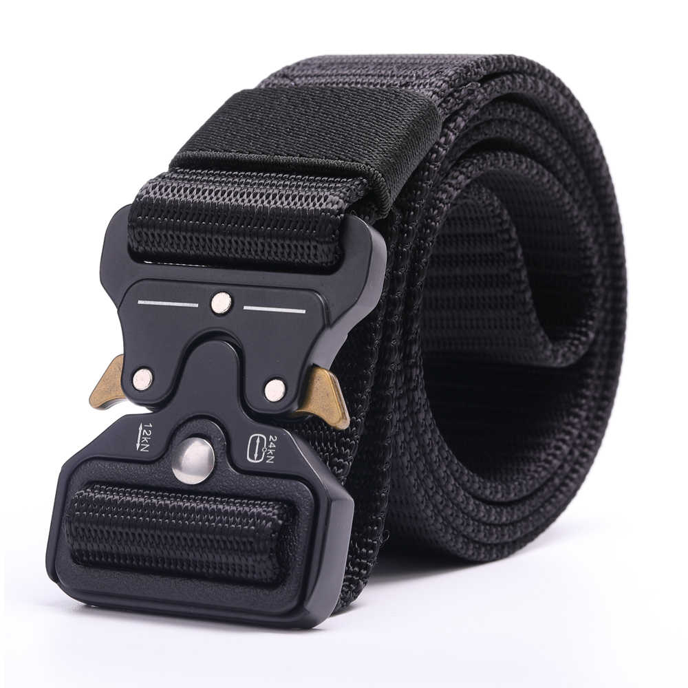 Quick-Release Nylon Tactical Belt Military Waist Support Strap Sports Hunting Heavy Duty Training Hiking Outdoor Army Waistband