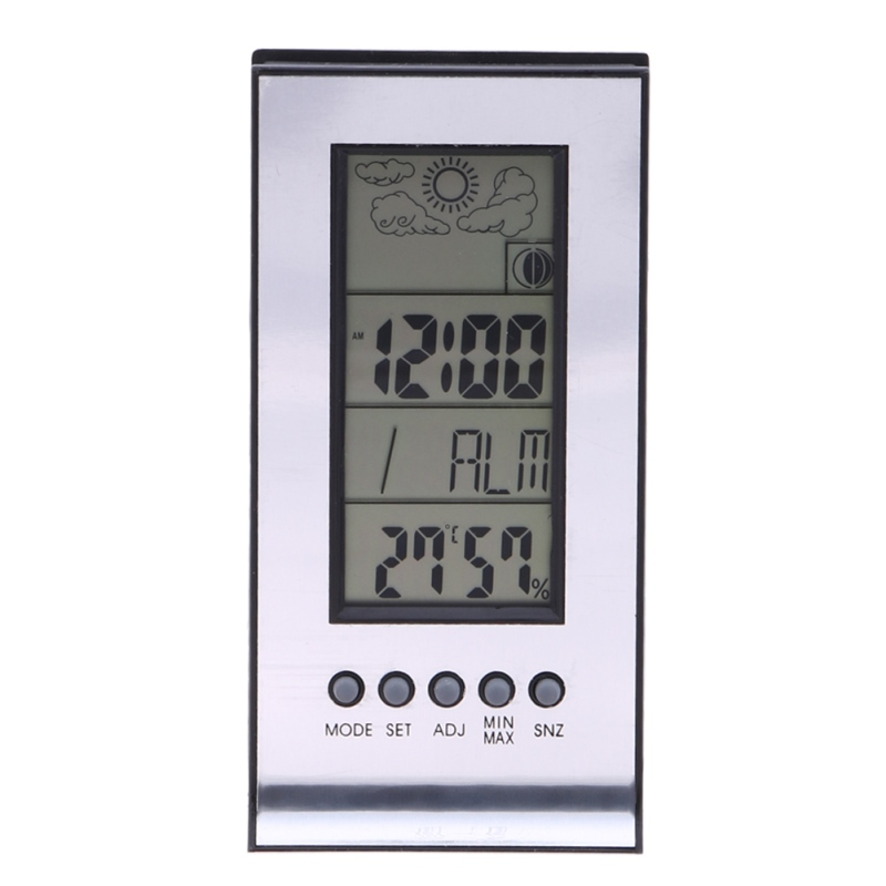 LCD Digital Thermometer Indoor Outdoor Wireless Weather Station ...