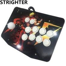 Arcade joystick 10 botones pc controlador de juego de ordenador de Arcade Sticksss conector usb Joystick de King of fighters Consolas