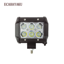 ECAHAYAKU 1Pcs Spot Beam 4Inch 12V Led work Light Bar 6000K 2400Lm Chip Auto Replacement Parts For Jeep 4x4 4WD ATU SUV boat