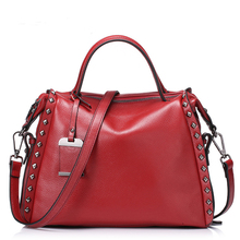 New style 2016 Fashion Women Real Genuine Leather Casual Women Handbag Large Shoulder Bags Ladies Tote Bolsa messenger bag YN690