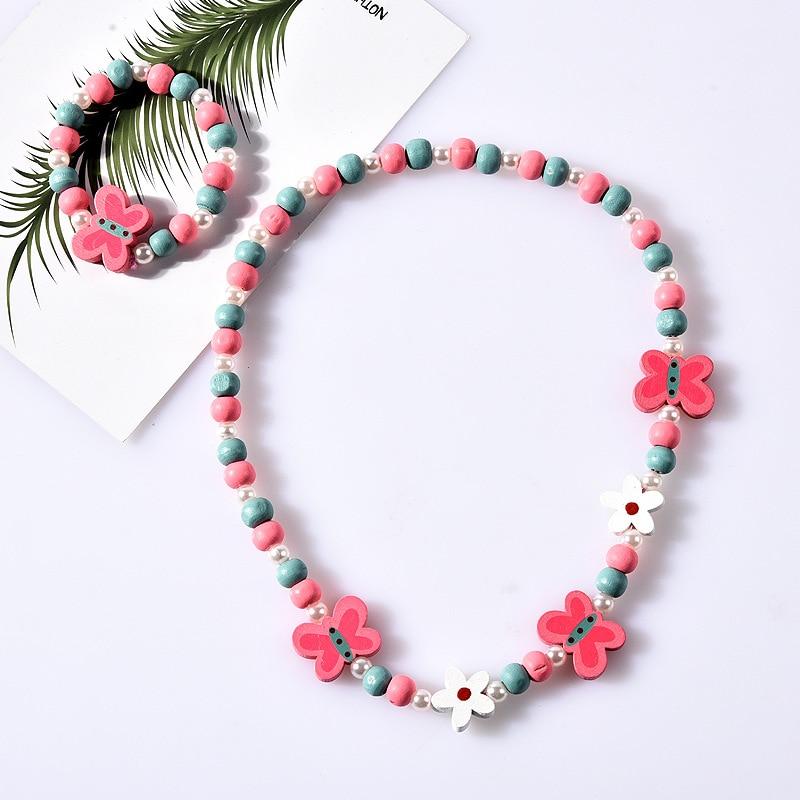 25 styles Cute Animal Flower Cartoon Flower Children's sweater necklace bracelet for children gift cp2585