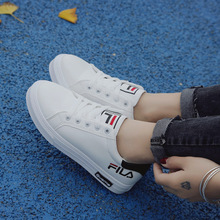 Купить с кэшбэком 2019 new fashion casual women's shoes student campus flat shoes women's white shoes