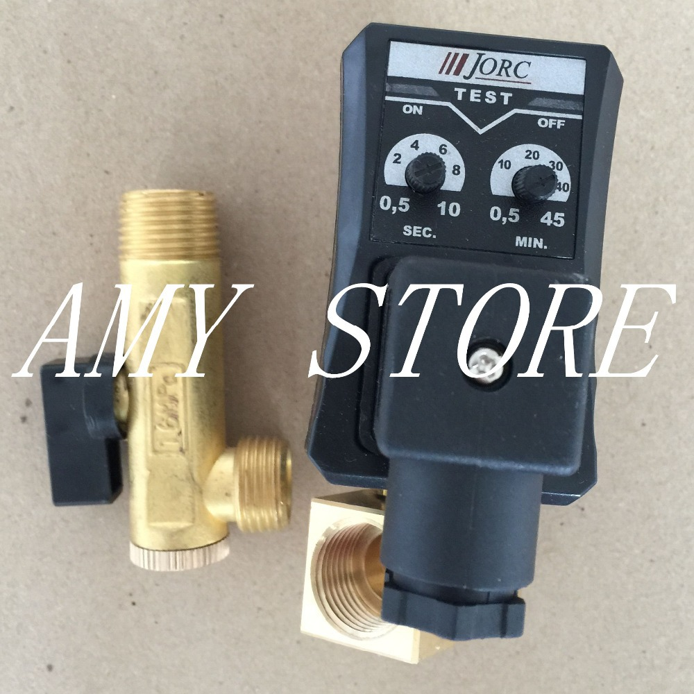 Separated Type 220V 1/2 Automatic Timer Compressor Condensate Drain Timer Solenoid Valve free shipping 1 2 compressor auto condensate drain digital timer solenoid valve auto drainer air compressor electrial drain page 9