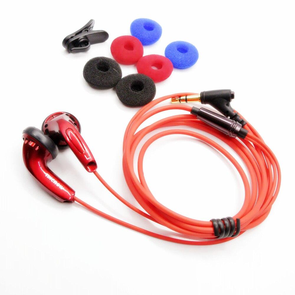 Красный YINCROW X6 3,5 мм наушники-вкладыши с плоской головкой наушники Профессиональный лихорадка HIFI без микрофона для iphone