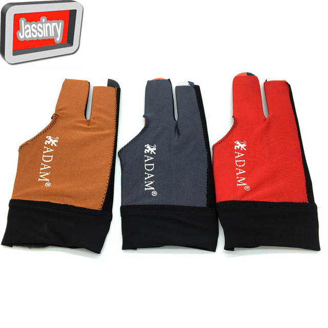 10pcs/lot High elastic fabric Adam Billiards Gloves free shipping Half-finger and left-hand Punch sheet snooker cue gloves
