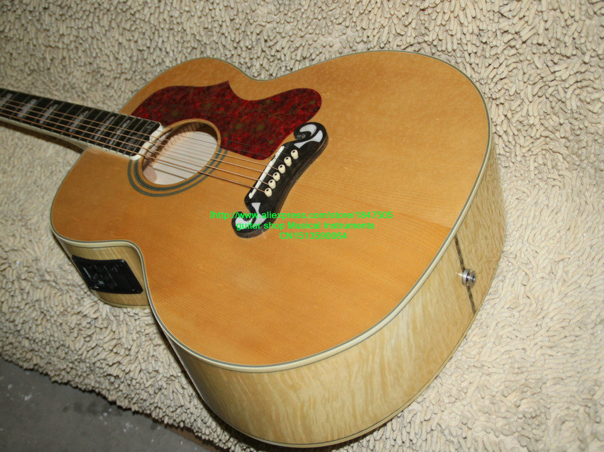 high ranking custom shop natural 200 guitar acoustic electric guitar with fsm high cheap oem. Black Bedroom Furniture Sets. Home Design Ideas