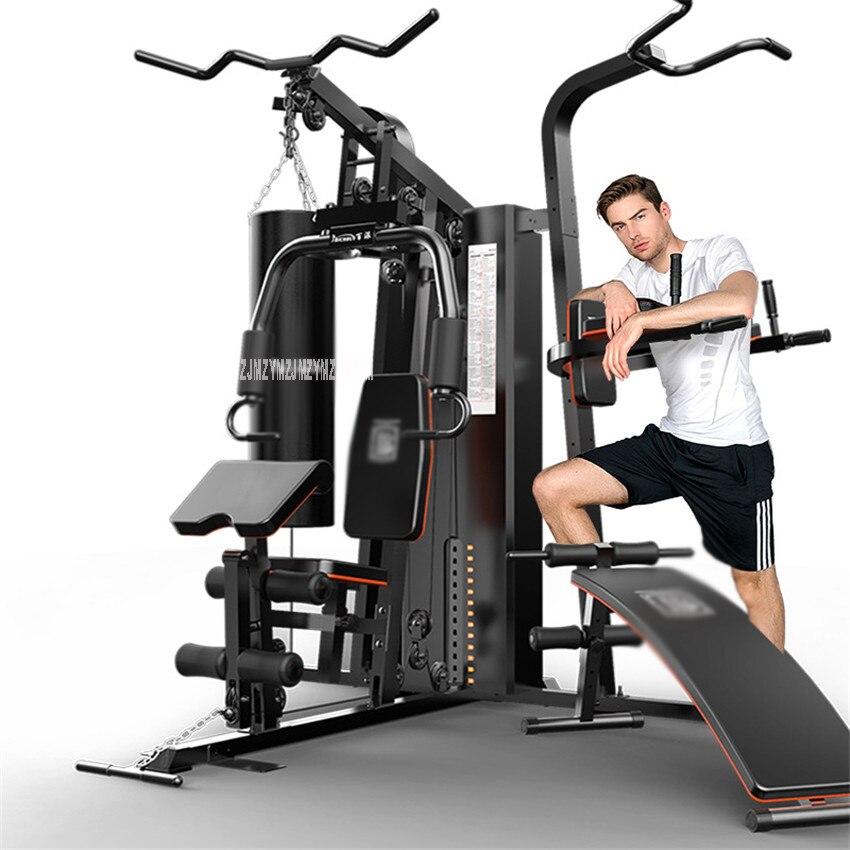 806A 7 en 1 entraînement combiné équipement de Fitness intégré tige de traction assis banc de sable tirer vers le haut barre parallèle bras Muscle formateur