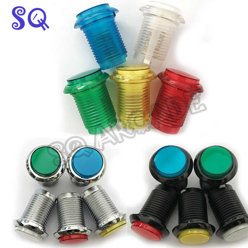 12V/5V LED Light Lamp Arcade push button little Round Arcade Video Game Player Push Button+ microswitch+stents 15 color