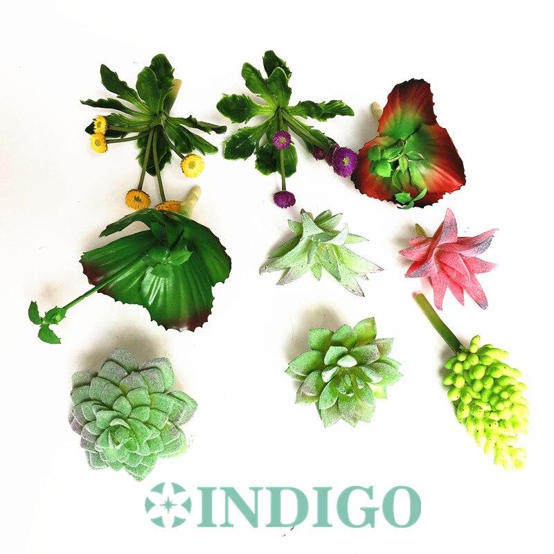 Indigo-mini Vetplant Kunstmatige Plastic Bloem Kantoor Tafel Decoratie Groene Plant Achtergrond Gratis Verzending Lange Levensduur