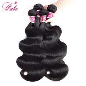Image 4 - FABC Haar brazillian haar bundels body wave 4 bundels menselijk haar weave natuurlijke kleur niet Remy Hair Extensions