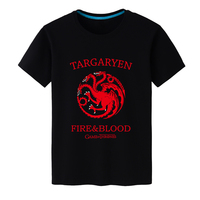 2017 Summer Hot Men T Shirt Game Of Thrones Targaryen Fire Blood Tshirts Men Cotton Short