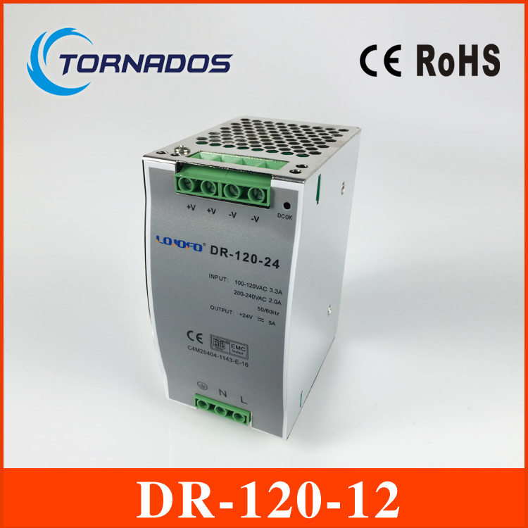 120w 12VDC 10A din rail switching power supply with CE ROHS 2 year warrany OEM factory