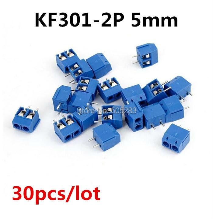 30pcs KF301 2Pin Screw Terminal Block 2 Way Positions 5mm Pitch DIY PCB Board 2 Pin Cable Terminals Adapter 300V 15A HY466*30 20 pcs 126 3p 3pin 5mm pitch screw terminal block 300v 10a
