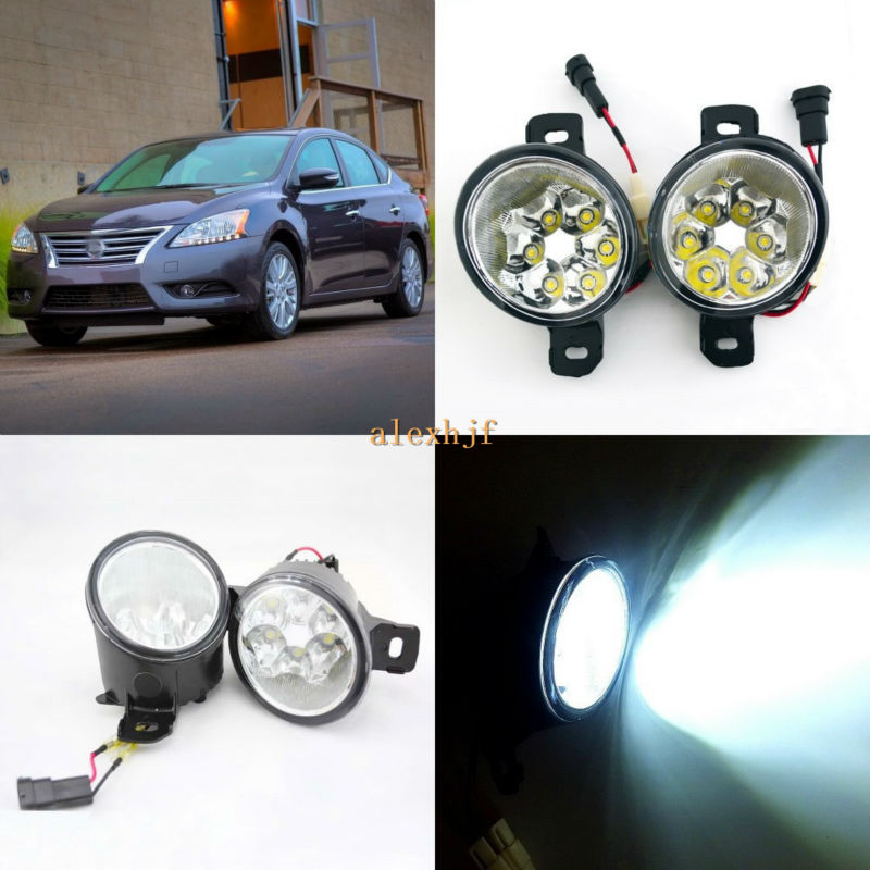 July King 18W 6LEDs H11 LED Fog Lamp Assembly Case for Nissan Syphy Sentra 2013~ON,  6500K 1260LM LED Daytime Running Lights july king 18w 6leds h11 led fog lamp assembly case for nissan versa 2012 on 6500k 1260lm led daytime running lights
