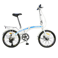 Складной велосипед ультра легкий портативный мужской и женский маленький 16/20 дюймов компактный