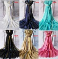 2015 Women Gold Lurex Border Solid Color Scarf Soft Pure Viscose Fringe Scarf Shawls Wholesale 11Colors 5pcs/lot  Freeshipping