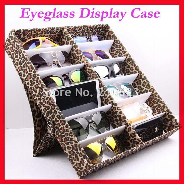 12B Оксфорд Леопарда Черные Очки Очки Солнцезащитные Очки Хранения box Дело Лоток Дисплей Hold12pcs солнцезащитные очки бесплатная доставка