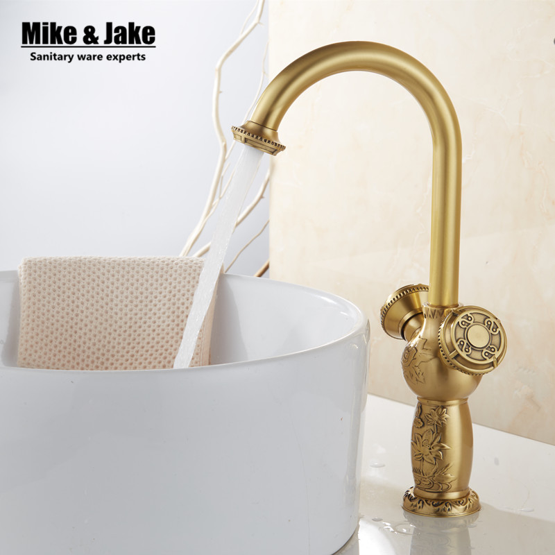 Double handle Antique brass bathroom basin faucet vintage basin mixer sink tap torneira banheiro basin mixer water GYD6869 single handle antique brass water bathroom sink faucet tap grifos torneiras para de banheiro parede