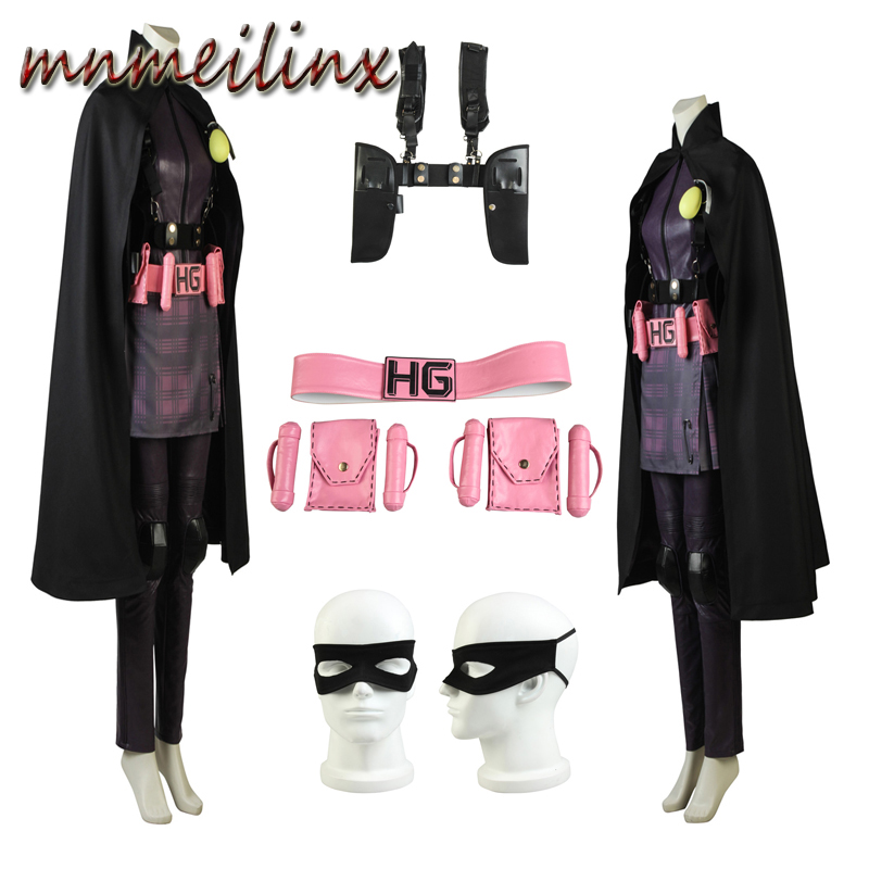 New arrival Kick-Ass Cosplay Hit-Girl Cosplay Costume Suit Custom Size Halloween Outfit