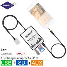 DOXINGYE USB SD AUX Auto MP3 Radio di Musica Digitale CD Changer Adapte Per Scion di Toyota Lexus Camry Corolla 6 + 6PIN Interfaccia