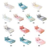 5PCS Portable Baby Crib Nursery Travel Folding Baby Crib Bag Infant Toddler Cradle Multifunctional Baby Crib Set Storage Bag