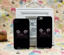 Black cat back Hard Clear Skin Case Cover for iPhone 4 4s 5 5s 5g 1PC