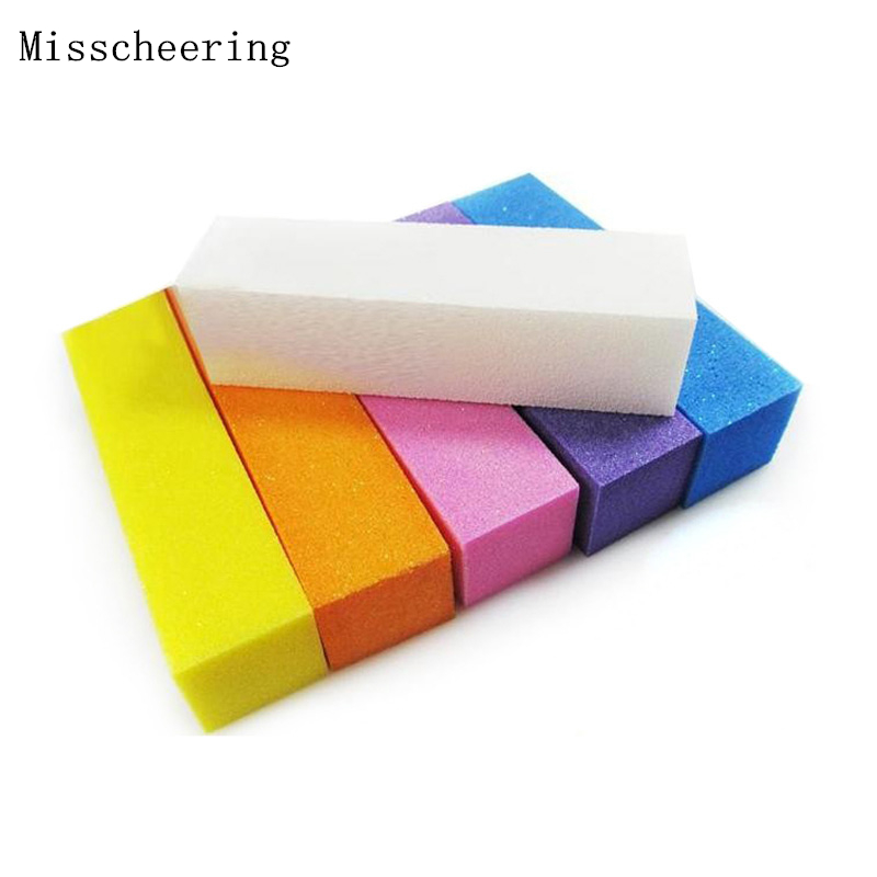 4pcs / set Nail Art Buffer Sanding Blocks, DIY Nail File Buffering Tools Polishing Manicure Accessories