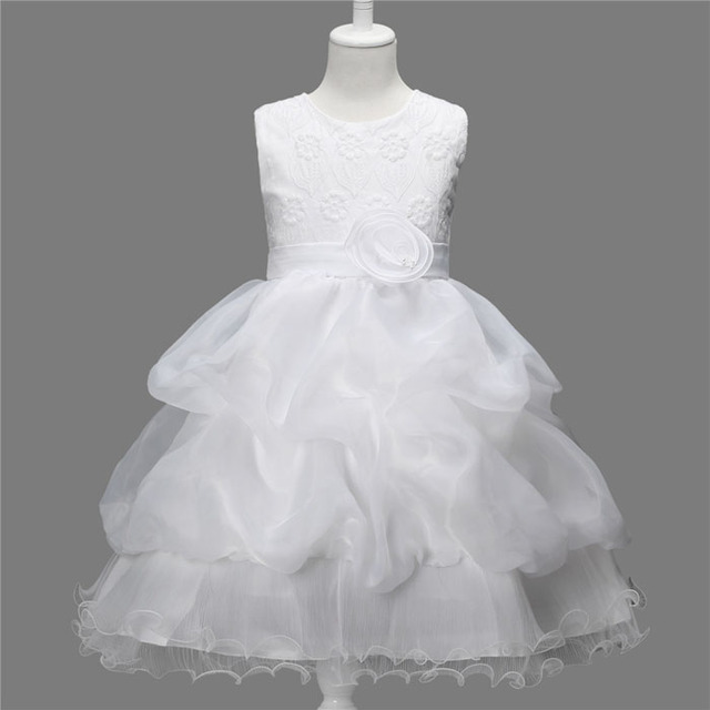 Kids Frocks Embroidery Princess Tutu Wedding Party Dress Girls Vestidos Costume Children Reine des neiges For 2 4 6 8 10 Years