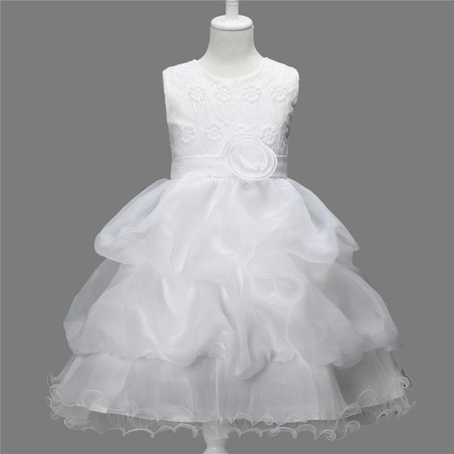 Niños vestidos bordado princess tutu vestido de las muchachas vestidos del banquete de boda traje niños Reine des neiges Para 2 4 6 8 10 Años