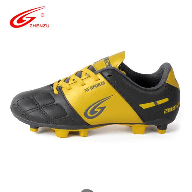 ZHENZU New Kids Children Soccer  F Athletic Training Football Shoes Natual round Football Cleats Shoes Size 28-38