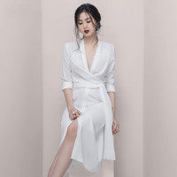 2019 Designer Runway Bandage Dress Women Elegant Party High Quality Office Lady Streetwear Fashion Casual Dress