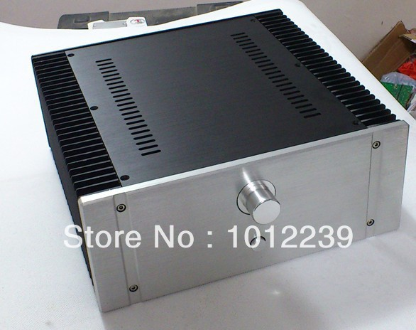 New aluminum amp chassis /home audio power amplifier case size 320X130X316 mm hot sale gold preamp aluminum chassis with knob diy home audio amp chassis size 236 w x 166 high x 75 deep
