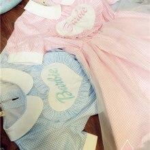 Kawaii/платье горничной в форме сердца для девочек в стиле Лолиты; кружевное цельнокроеное платье с вышивкой в виде букв и феи Kei; двухслойное платье из органзы