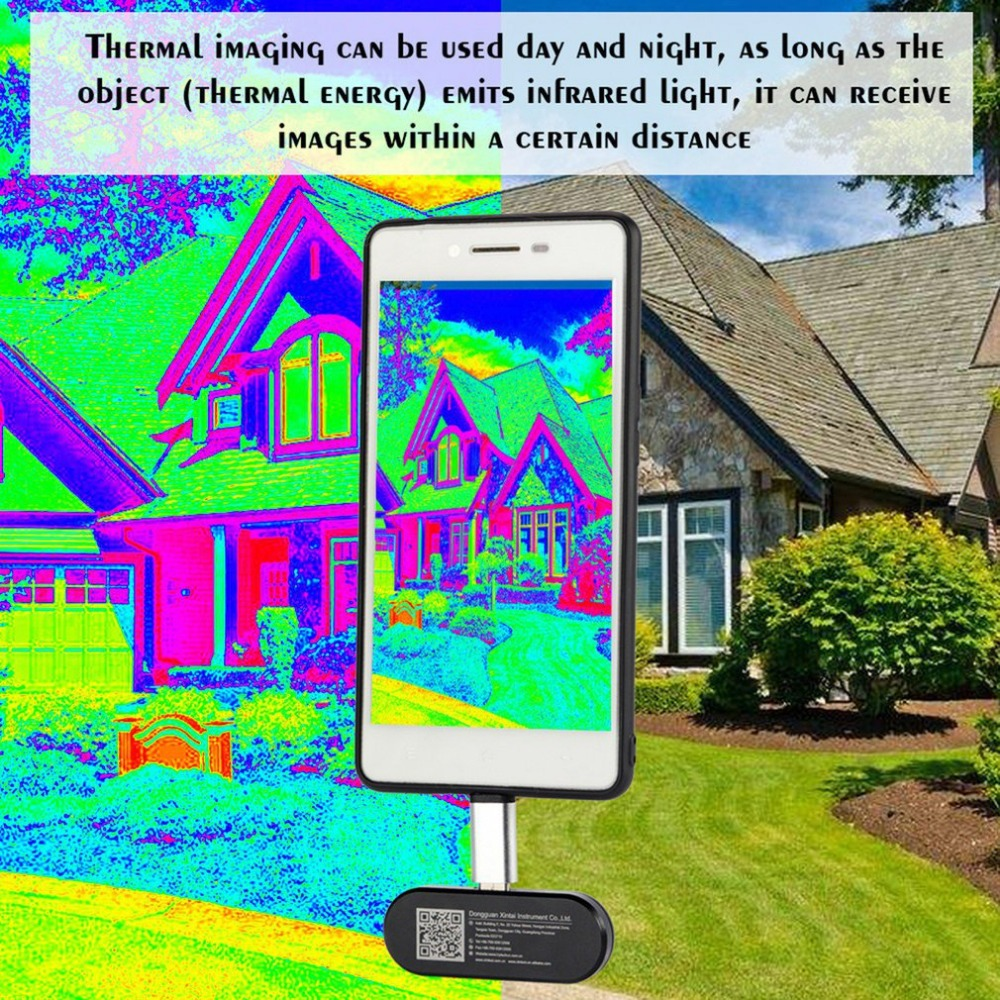 Mobile Phone Thermal Infrared Imager Support Video and Pictures Recording Face Detection Imaging Camera
